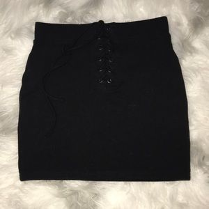 Lace up forever 21 skirt